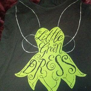 Tinkerbell Little Green Dress Tank Top SZ M